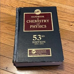 CRC Handbook of Chemistry and Physics (1972)